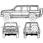Opravná sada bŕzd s valčekom -  Nissan Patrol GR Y61 zadná